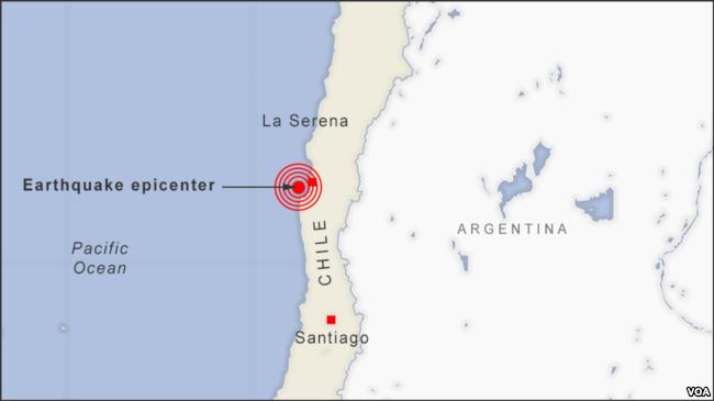 6.7-Magnitude Quake Hits Chile