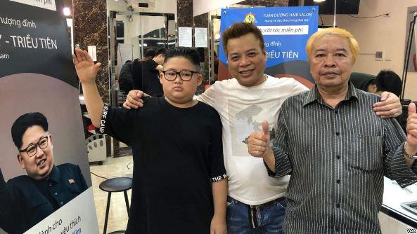'Trump' and 'Kim' Go Head-to-Head at Hanoi Hair Salon