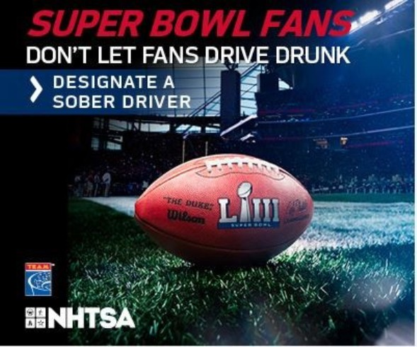 RI State Police Increases Patrols for Super Bowl Sunday; Reminds Everyone to Arrange a Safe, Sober Ride Home