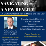 UMass Law announces line-up for 2019 Law Review Symposium