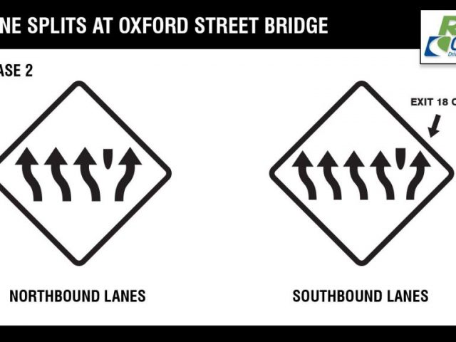 Traffic Advisory Reminder: Lane Splits Coming on I-95 for Oxford Street Bridge Work in Providence