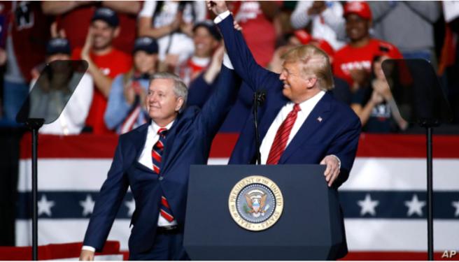 Senador Graham conversó con Trump: «Sonaba bien, sonaba optimista»