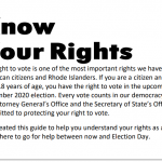 Attorney General and Secretary of State issue Know Your Rights guide for voters in advance of general election