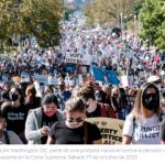 Marcha de las Mujeres en EE.UU. protesta nombramiento a la Corte Suprema