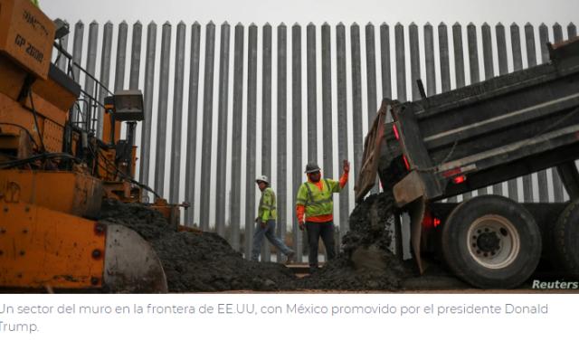 Trump visita frontera de EE.UU. con México