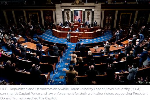 Avanza en Cámara de Representantes proyecto de ley de juicio político a Trump