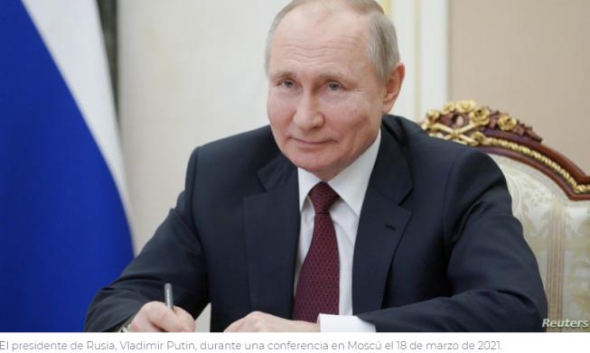 Putin responde a comentarios de Biden: «Le deseo salud»