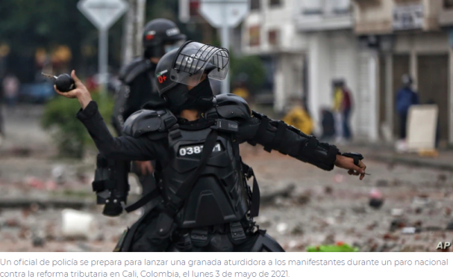Comunidad internacional condena la violencia en las protestas de Colombia