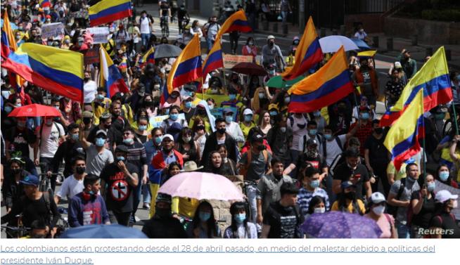 Papa Francisco «preocupado» por Colombia: «rezamos por su patria»