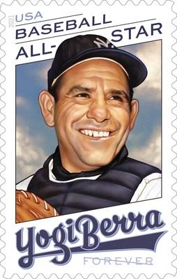 El servicio postal honra a la leyenda de los Yankees, Yogi Berra, con el sello Forever