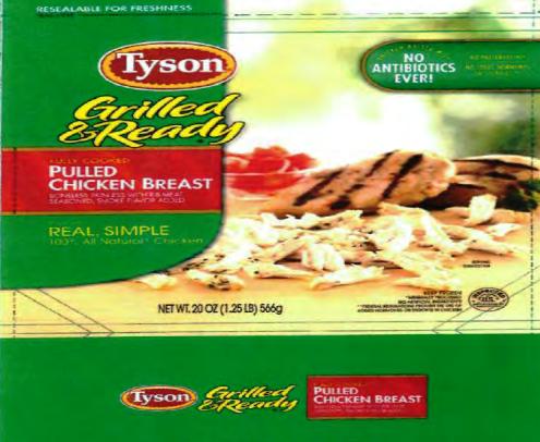 Tyson Foods retira del mercado productos de pollo listos para comer