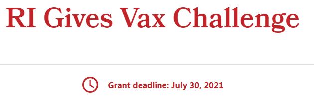 El gobernador McKee y la Fundación Rhode Island anuncian la primera ronda de RI Gives Vax Challenge