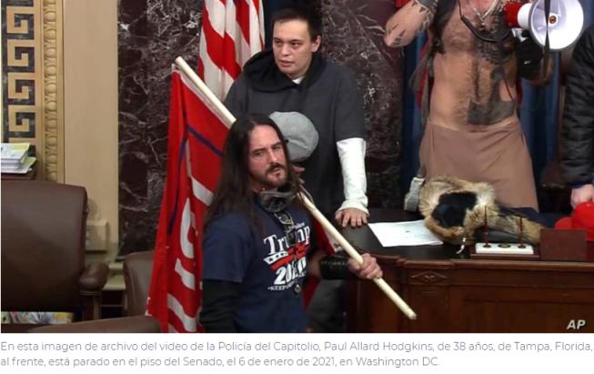 Primera condena por el asalto al Capitolio de EE. UU.