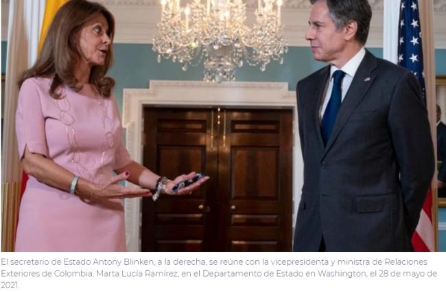 Blinken enfatizó la defensa de la democracia en conversación con vicepresidenta de Colombia