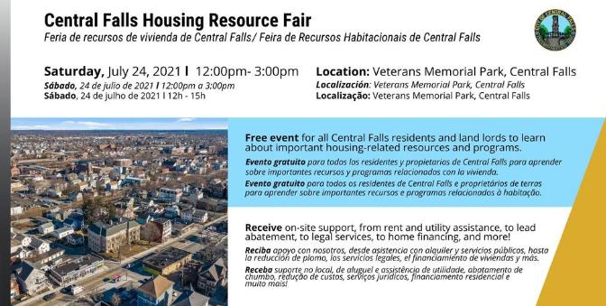 ¡Reserva! Feria de recursos de vivienda CF el 24 de julio